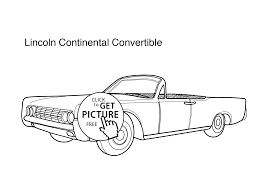 car lincoln continental convertible coloring page for kids