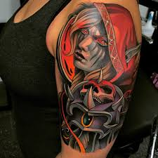 domo tattoos world of warcraft tattoo sylvanas wow