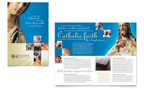 catholic parish and brochure template word
