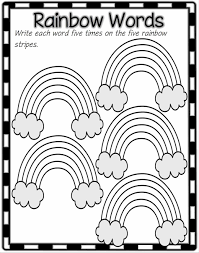 free writing paper for first grade my rainbow spelling list template words template also added a template first grade unit four week two printouts second six five wonders spelling list template second