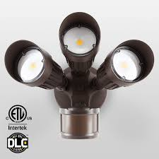 Halogen Outdoor Flood Light Fixture by 30w 3 Head Motion Activated Led Outdoor Security Light Photo