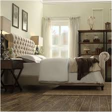 bedroom tall white headboard with tufted ornaments which combined