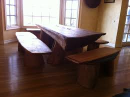 Rustic Modern Dining Room Tables Simple Cheap Untreated Mahogany Dining Table With Bench Seats