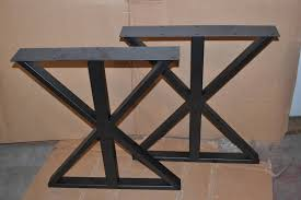 vertical x frame steel metal table desk bench legs