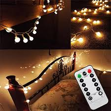 dimmable outdoor led string light updated version 16 feet 50leds bedroom globe led string lights