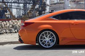 rcf lexus orange vossen wheels lexus rcf vossen flow formed series vfs6