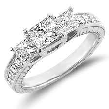 unique princess cut engagement rings 14k white gold princess cut engagement ring jewelryvortex
