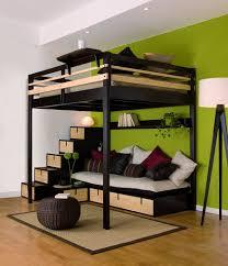lit superposé avec canapé lits mezzanines urbaine