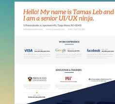 Princeton Resume Template 100 Best Free Business Cards Resume Templates And More Of 2014