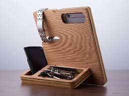 Wood Desk Accessories And Organizers The Wood Docking Station Doubles As A Desk Organizer Diversos