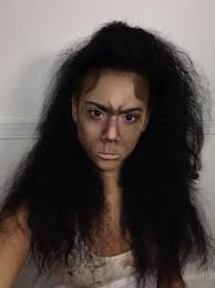 easy halloween makeup look cave woman youtube