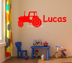 farm tractor personalised wall art sticker sticker station