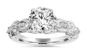 groupon wedding rings 1 1 6 cttw vintage inspired engagement ring by bliss