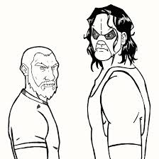 wrestling coloring pages with kane coloring pages eson me