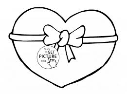heart from st valentine u0027s day coloring page for kids for girls