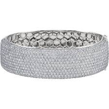 white gold bracelet bangles images 18kt white gold wide pave cuff bracelet wedding bands co jpg
