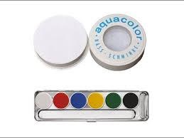 swatches kryolan aquacolor 6 color a palette kryolan