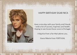 happy birthday nick a page for the birthday cards from your