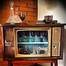 Open Bar Cabinet Recicled Old Tv As My Open Bar Did It My Self Pinterest Bar