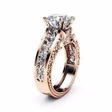 rose color rings images Rose gold color leaf crystal wedding rings good jewelery jpg