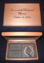 personalized wooden jewelry box personalized engraved wood jewelry box bridesmaid made of