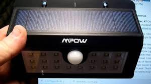 mpow solar light instructions mpow super bright 20 led solar powered youtube