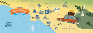 Greater Los Angeles Map by Southern California Attractions Map California Map