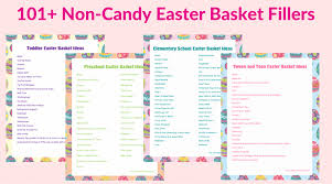 basket fillers 101 easter basket filler ideas free printable lists