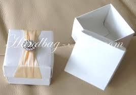 personalized wedding favor boxes ivory silk favor box with rhinestone brooch handbag asia