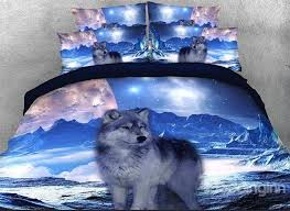 Wolf Bedding Set Onlwe 3d Mountain Wolf Printed Cotton 4 Bedding Sets Duvet