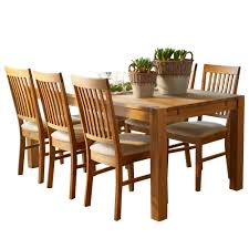the hannover oak dining room table and 6 chairs for only 599