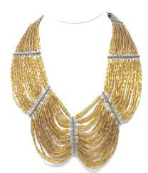 beaded collar necklace images Vintage gold beaded collar necklace zanathia jewelry JPEG
