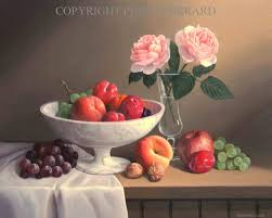 fruit and flowers fruit flowers still painting by philip gerrard 4
