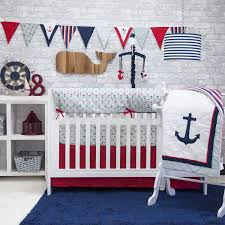 Nautical Baby Nursery Amazon Com Pam Grace Creations 6 Piece Anchors Away Crib Set