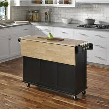 liberty wood top mobile kitchen cart w wood or stainless steel