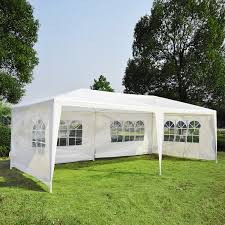 tent party outsunny white 10 x 20 gazebo canopy tent aosom