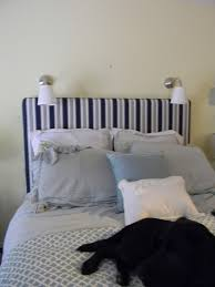 King Size Headboard Ikea Bedroom Mesmerizing Design Ideas Using Rectangular Blue Stripes