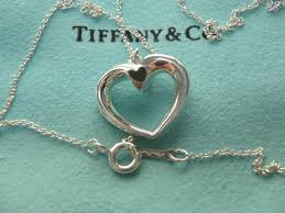 heart pendant necklace tiffany images Tiffany co silver sterling paloma picasso tenderness heart jpg