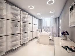 beautiful office decor office workspace white futuristic interior
