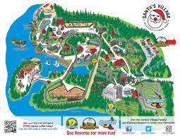 santa map park map santa s family amusement parks muskoka ontario