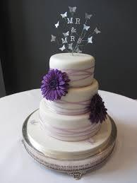 purple gerbera wedding cake delicious dial a cake