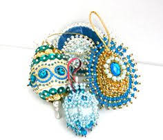 regency international beaded sequin glitter ornament set glitter