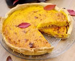 cuisiner du potimarron tarte de potimarron lardons et oignons caramélisés recette de