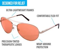 tinted glasses for light sensitivity fluorescent light protection photophobia relief with theraspecs