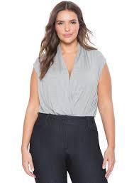 Plus Size Bodysuit Blouse Wrap Front Bodysuit Women U0027s Plus Size Tops Eloquii