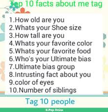 10 facts about me k pop amino