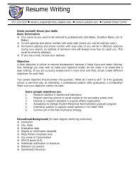 Sample Career Objectives In Resume by Example Of Objectives In Resume For Summer Job Templates
