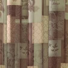 Fabric Shower Curtains With Matching Window Curtains Decorations Shower Valance Fabric Shower Curtains Shower