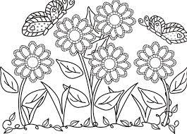 butterfly flower garden colouring butterfly cartoon