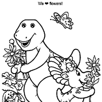 barney coloring pages print barney pictures color kids